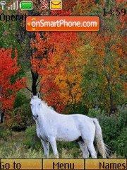 Horses autumn theme screenshot