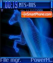 Blue Horse theme screenshot