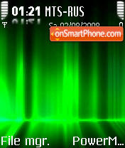 IAurora Green S60v2 theme screenshot