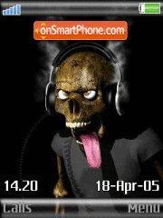 Hot Music Skell tema screenshot