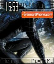 Black Spidey theme screenshot