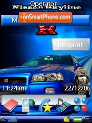 Nissanskyline Gtr es el tema de pantalla