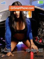Girl and Car es el tema de pantalla