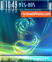 Vista Dragon es el tema de pantalla