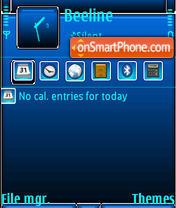 Скриншот темы Blue Black QVGA