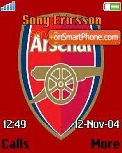 Arsenal tema screenshot