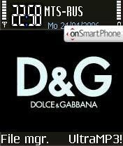 Dolce & Gabbana theme screenshot