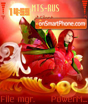 Red Fairy theme screenshot