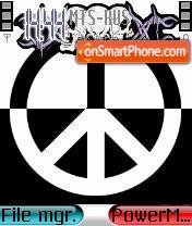 Skull Peace theme screenshot