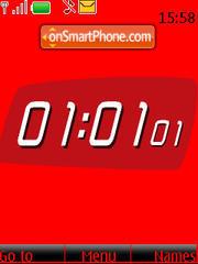 SWF heart clock theme screenshot