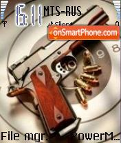 Gun Pistol theme screenshot