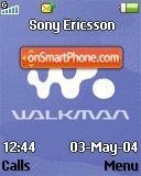 Walkman Blue 01 es el tema de pantalla