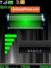 SWF clock $ indicators es el tema de pantalla