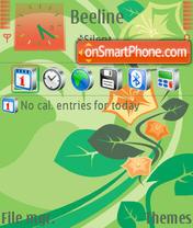 Скриншот темы Orangeflowers