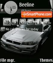 Nissan Skyline 07 theme screenshot