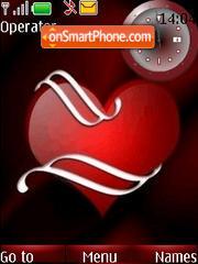 SWF clock red heart theme screenshot