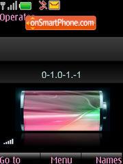 Capture d'écran SWF pink clock $ indicators thème
