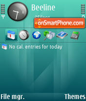 Capture d'écran Reflex thème