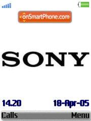 Sony theme screenshot