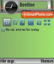 Green Hole theme screenshot