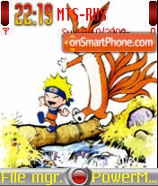 Naruto and Kyuubi theme screenshot