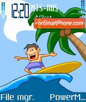 Surfer es el tema de pantalla