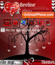 Love Tree s60v3 tema screenshot
