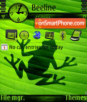 Frog shadow s60v3 theme screenshot