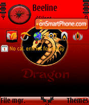 Dragon animated v3 s60v3 tema screenshot