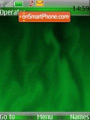Скриншот темы Green Flame