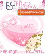 Baby Pink Animated theme screenshot