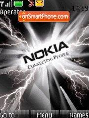 Black Nokia Thunder theme screenshot