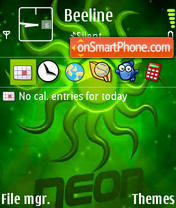 Neon 6285 theme screenshot