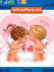 Скриншот темы Angels kissing