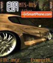 Nfs Car es el tema de pantalla