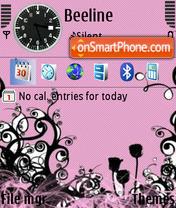 Pink Flowers Screenshot es el tema de pantalla