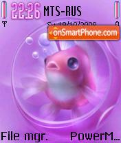 Cute Fish Aquarium theme screenshot
