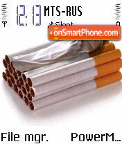 Cigarette Stop tema screenshot