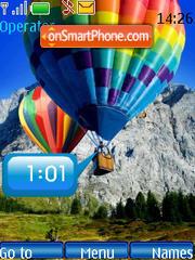 Скриншот темы SWF baloons clock
