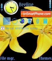 Скриншот темы Neon Yellow Flowers