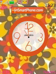 Swf Flower Clock tema screenshot