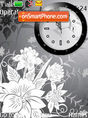 Flower Clock tema screenshot