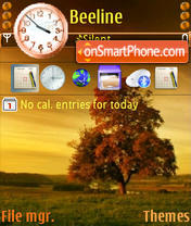 Скриншот темы Autumn Tree