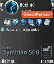 Symbian S60 theme screenshot