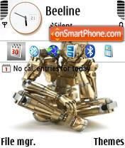 Robot 01 theme screenshot