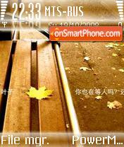 Autumn 14 es el tema de pantalla