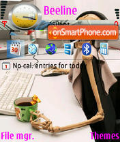 Hacker theme screenshot