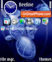 Abstrakt blue theme screenshot