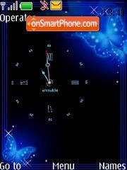 Butterfly clock swf es el tema de pantalla