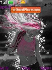 Pink Girl 05 theme screenshot